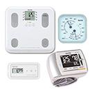 【温湿度計付き】通信対応 体組成計BC-508・血圧計BP-302・活動量計AM-150(ホワイト)