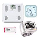 【温湿度計付き】通信対応 体組成計BC-508・血圧計BP-302・活動量計AM-150(ピンク)