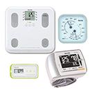 【温湿度計付き】通信対応 体組成計BC-508・血圧計BP-302・活動量計AM-150(グリ―ン)