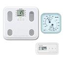 【温湿度計付き】通信対応 体組成計BC-508・活動量計AM-150(ホワイト)セット