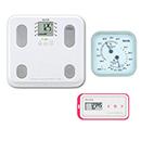 【温湿度計付き】通信対応 体組成計BC-508・活動量計AM-150(ピンク)セット