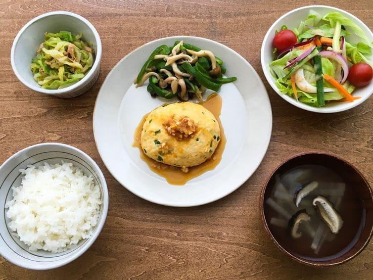豆腐ハンバーグさっぱりソース定食
