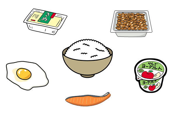 一般的な食事(イメージ)