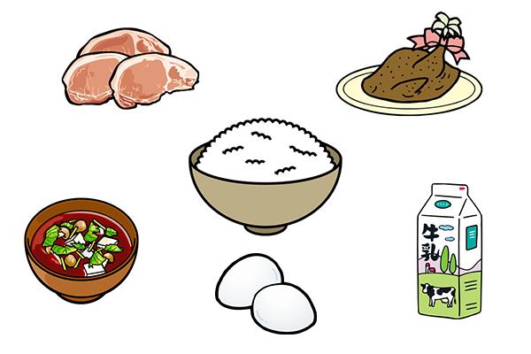 たんぱく質が多い食事(イメージ)