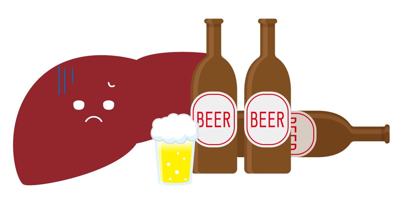 飲み過ぎは肝臓の時間外労働です
