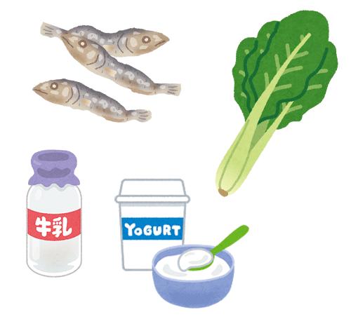 カルシウムを多く含む食材(イメージ)