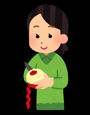 リンゴ皮むき