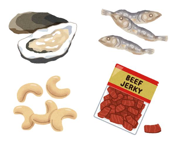 亜鉛を多く含む食品(イメージ)