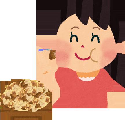 ナッツ食べるイメージ