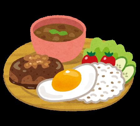 ワンプレートの食事(イメージ)