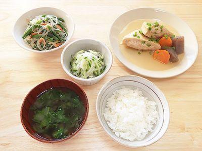 高野豆腐のいんろう煮定食