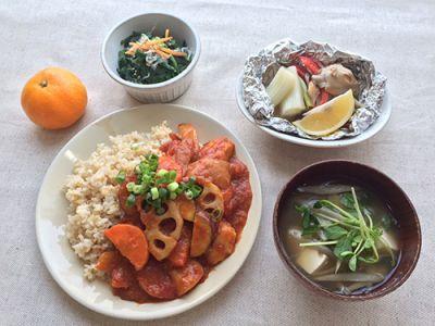 ささみと根菜のカレーライス定食(イメージ)